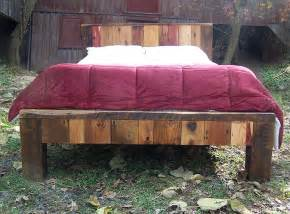 reclaimed wood bed frame colorful reclaimed wood bed frame
