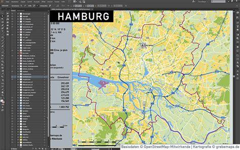 hamburg kart hamburg stadtplan vektor stadtbezirke stadtteile topographie