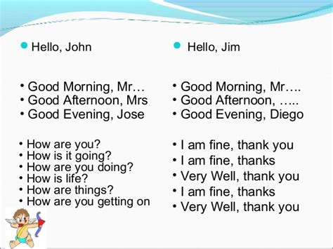 email format good morning greeting and responses