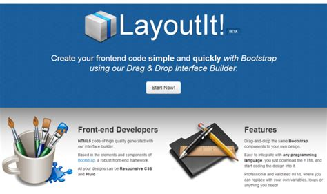 layoutit interface builder for bootstrap 誰でも簡単にbootstrapのレイアウトが作れる layoutit がすごい noise of web