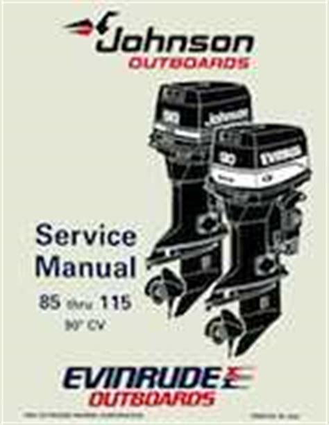 johnson 115 hp outboard motor manual manuel evinrude 90 1995 12 95