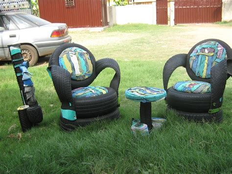 Handmade Handicrafts From Waste Materials - other design ideas outdoor home furniture made from waste