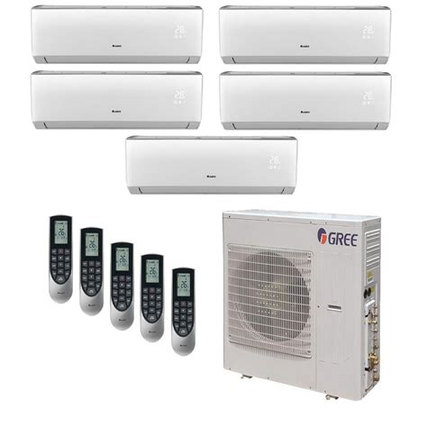 ductless mini split air conditioner gree multi 21 zone 39000 btu ductless mini split air