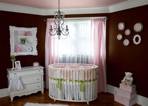 pink and brown nursery ideas baby nursery with dark brown wall and pink accent also
