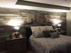 Distressed Wood Bedroom Wall Quot Added Laminate Flooring To Bedroom Wall To Give The Room