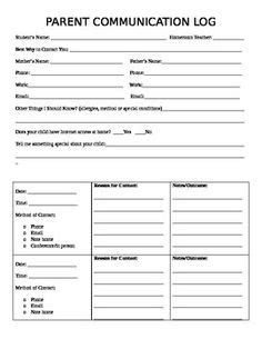 parent information sheet template 1000 ideas about parent contact log on parent