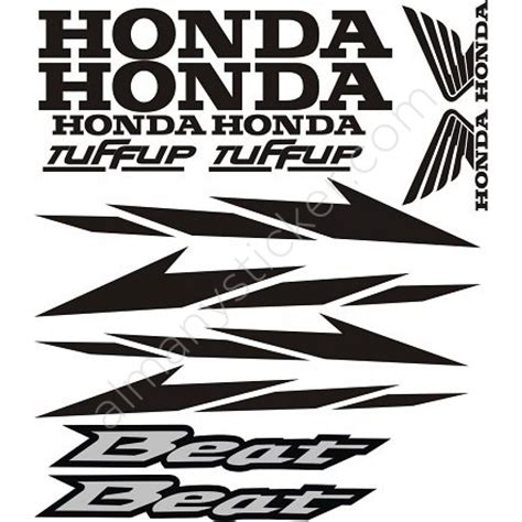 honda beat sticker set