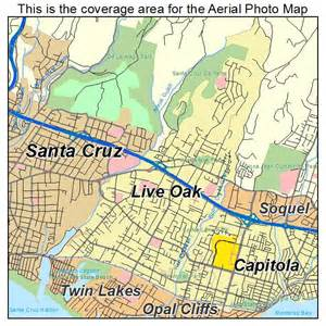 aerial photography map of live oak ca california
