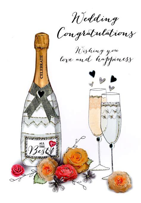 Wedding Congratulations Messages Uk by Wedding Congratulations Embellished Greeting Card Cards