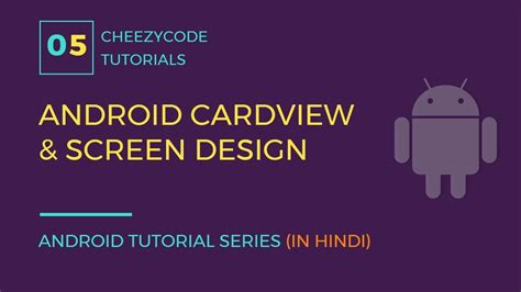 android cardview layout design android cardview tutorial screen and layout design with