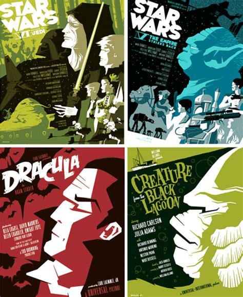 design poster modern modern movie poster design vintage twist by tom whalen