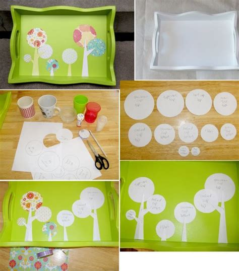 Handmade Tray Decoration - favorite handmade tray projects 20 easy diy serving trays