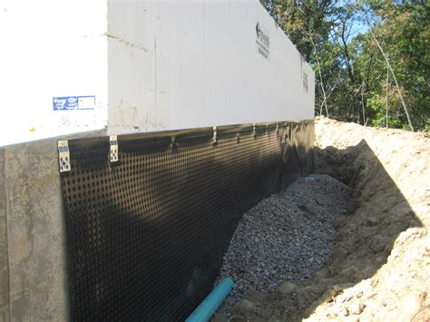 basement wall drainage basement waterproofing and drainage