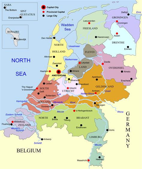 netherlands map europe the netherlands homepage