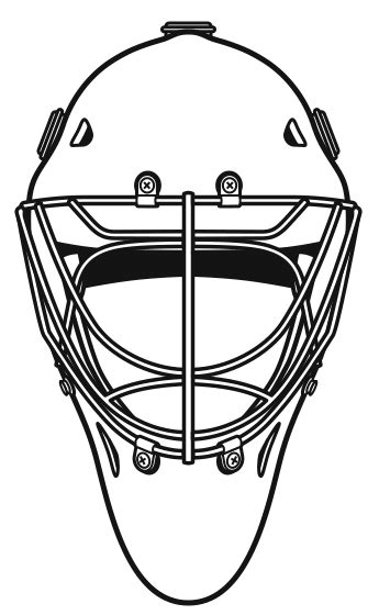 hockey helmet coloring pages goalie mask template clipart best