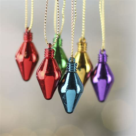 mini metallic light bulb ornaments christmas ornaments