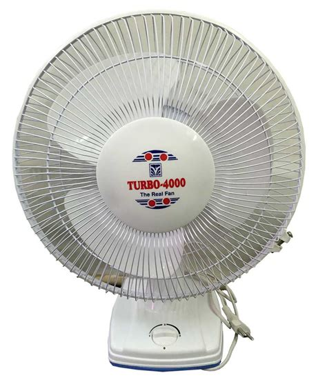 Turbo 4000 12 Wt High Speed Table Fan White Price In India