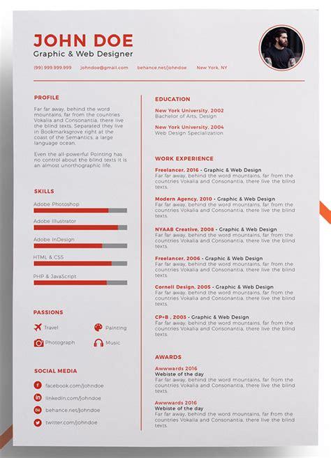 Modelo Curriculum Vitae Illustrator Curriculum Vitae Moderno Y Editable Para Descargar Formato Illustrator