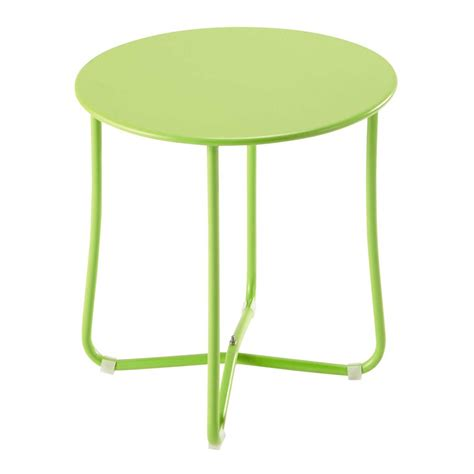 45 cm side table metal garden side table in anise green d 45cm capsule