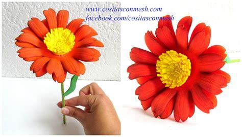 imagenes de flores en goma eva c 243 mo hacer flores en goma eva paso a paso cositasconmesh