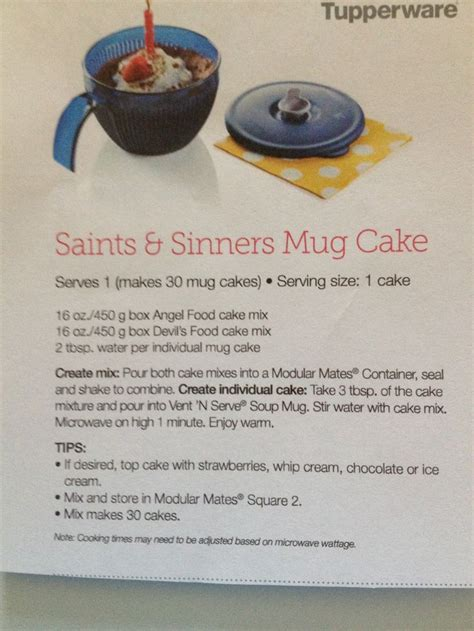Tupperware Micro Mug saints sinners mug cake tupperware recipe this vent n