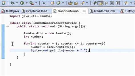 java tutorial random java programming tutorial 7 random number generator dice