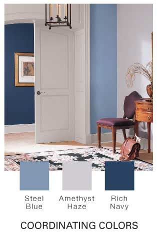 navy living room paint