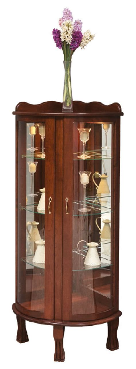 curved front corner curio cabinet curved front corner curio town country furniture