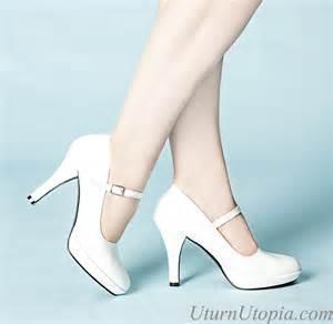 White mary jane shoes rockabilly retro wedding