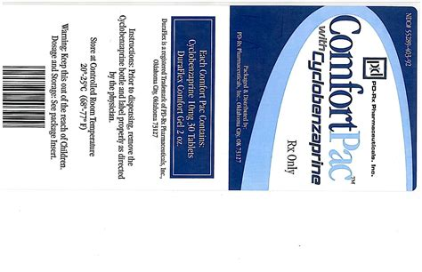 Comfort Pac With Cyclobenzaprine Pd Rx Pharmaceuticals