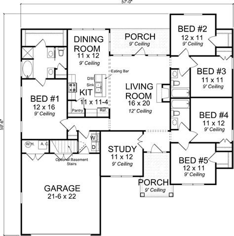 100 2 story great room floor plans 5 bedroom 2 story