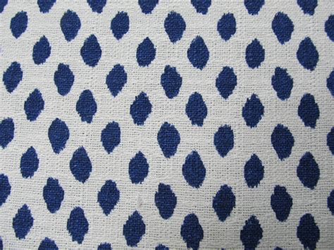 Fabric For Drapes And Upholstery by Indigo Blue White Flax Designer Drapery Bedding