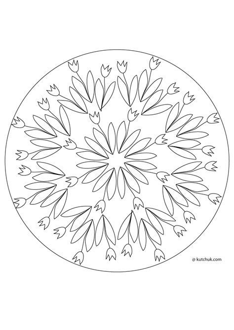 mandala coloring pages spring free mandala spring coloring pages