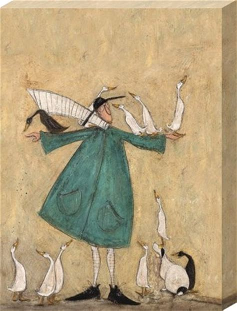 G Ci Kanvas Uk 30cm mustard duck roost sam toft canvas buy