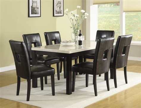 black dining room set with bench homelegance archstone 7pc dining table set in black by dining rooms outlet