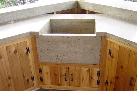 concrete kitchen cabinets concrete sink custom cedar cabinets bradley j winkler llc