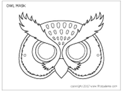 owl mask coloring page pin owl mask template on pinterest