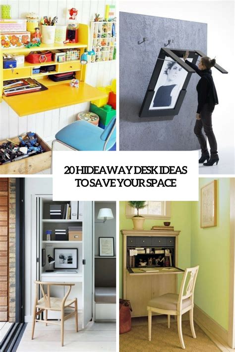 space saving desk ideas 20 hideaway desk ideas to save your space shelterness