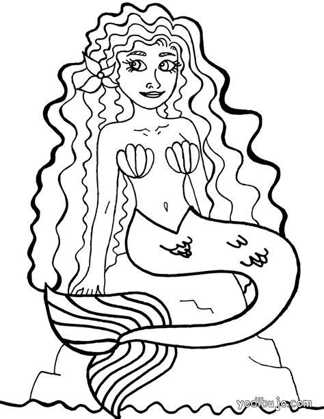imagenes de sirenas para dibujar a lapiz dibujos para colorear sirena es hellokids com