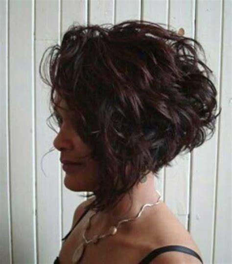 stacked permed hairstyle best 20 curly stacked bobs ideas on pinterest curly bob