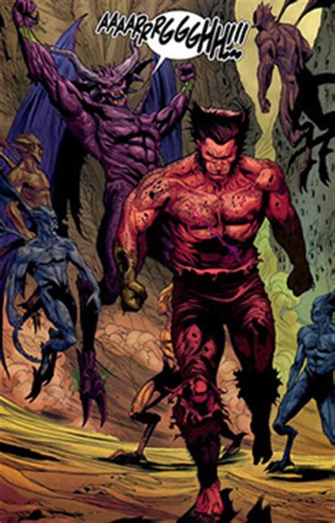 Miniature 222 Le Mutant Marvel wolverine al infierno y de vuelta central mutante