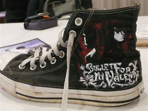 bullet for my shoes bfmv quot of blood quot chucks by airwavesxheartbeats on
