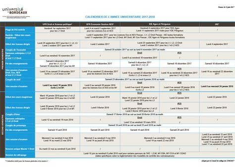 Calendrier Universitaire 1 Nouveau Calendrier Universitaire 2017 2018 Facult 233 D