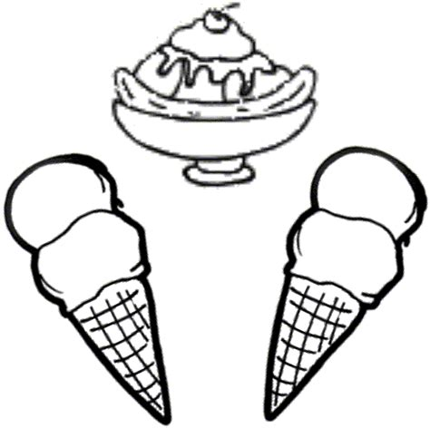 ice cream sundae coloring page home sketch coloring page