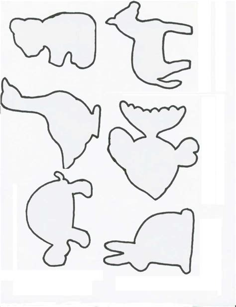 free printable zoo animal cutouts printable animal shapes kids coloring europe travel