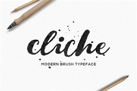 Wedding Font Brush by Cliche A Beautiful Lettered Brush Font Only 7