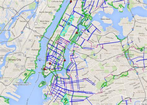 nyc bike map nyc bike maps new york city s bike lanes and bike paths mapped