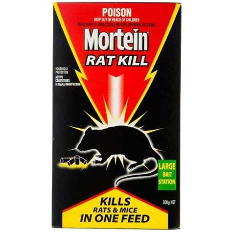 rat kill bait station for rodent control mortein