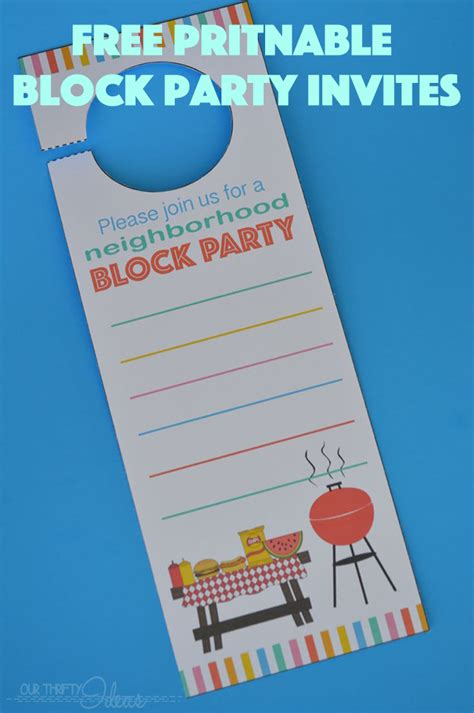 block invitation template neighborhood block invitation free printable our