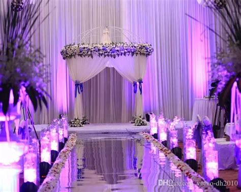 popular wedding centerpieces mirror carpet aisle runner gold silver double side design  station